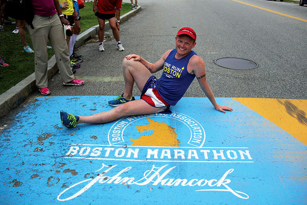 Picture of After the Boston Marathon bombings, Danny Bent took on a cross-country challenge