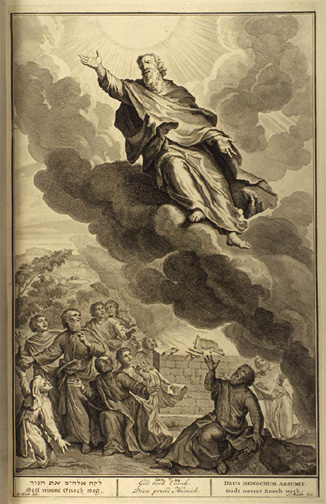 God took Enoch<br> Illustrated by Gerard Hoet (1648-1733)<>http://www.mythfolklore.net