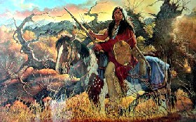 Crazy Horse on his horse. (http://www.legendsofamerica.com/NA-CrazyHorse.html)