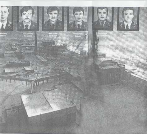 Some of the fireworkers who lost their lives during the Chernobyl nuclear power plant disaster