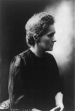 Marie Curie<br>Photo courtesy of Library of Congress,<br>LC-USZ62-91224