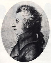 Drawing of Mozart by Doris Stock (1789)<br> (http://www.mozartforum.com/images/<br>Mozart_drawing_by