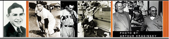 A collage of Yogi Berra Pictures. (Courtesy of the Yogi Berra Museum and Learning Center)