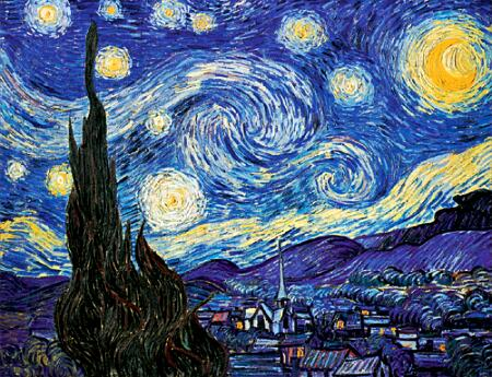 The Starry Night; June 1889 (The Museum of Modern Art, New York).