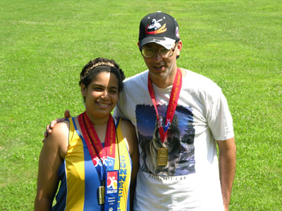 Dave & Migdalia Congdon take a break from practice (KEC)