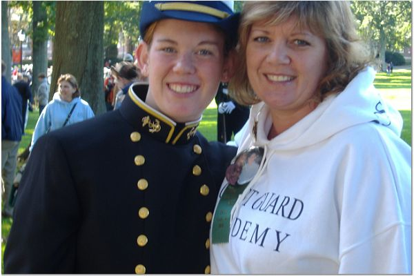 My Hero and Me!! (This was taken at the United States Coast Guard Academy)