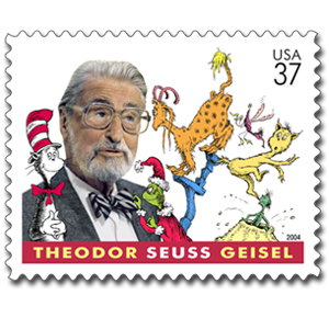 Dr. Seuss honored by the US Postal Service