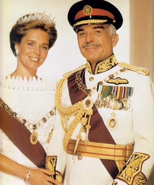 Their Majesties the late King Hussein I and Queen Noor of Jordan.