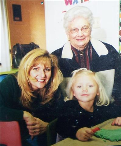 My mom, grandma & me during pre-school