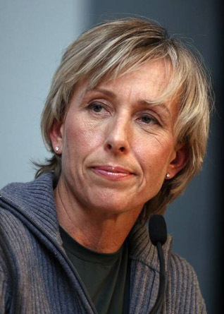 Martina is talking about her new book. (http://www.starpulse.com/Athletes/Navratilova,_Martina/galle