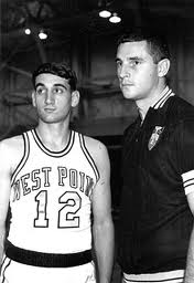 Coach K on left Bob Knight on right ( ())
