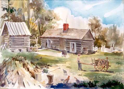 Picture of Tom Lincoln's Homestead, Charleston, Illinois
