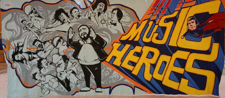 Music heroes music heroes my hero for Art miles mural project