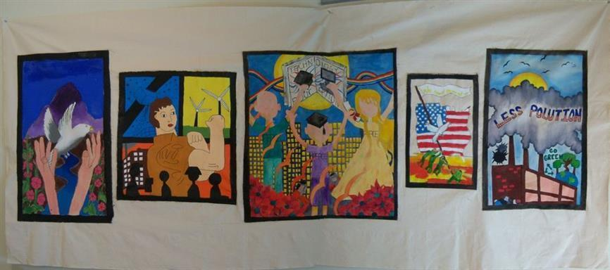 Picture of Images of Hope by Art Miles Mural Project and Sabah Kinder Art