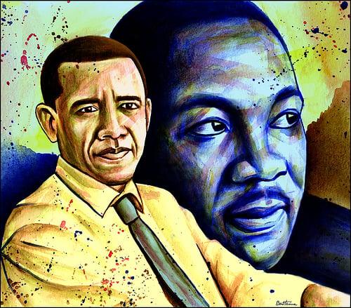 Barack Obama- Martin Luther King Jr. by Ben Heine , 2010