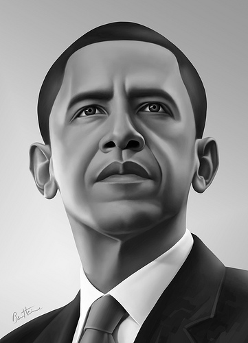 Picture of Barack Obama by Ben Heine