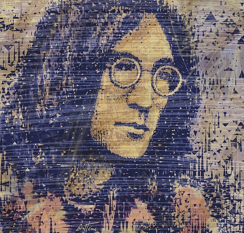 Picture of John Lennon by Ben Heine