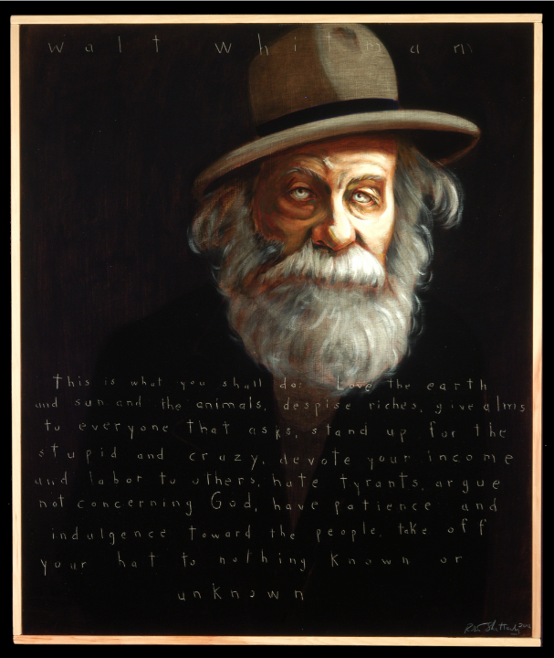 Picture of Walt Whitman by Robert Shetterly, AWTT.org