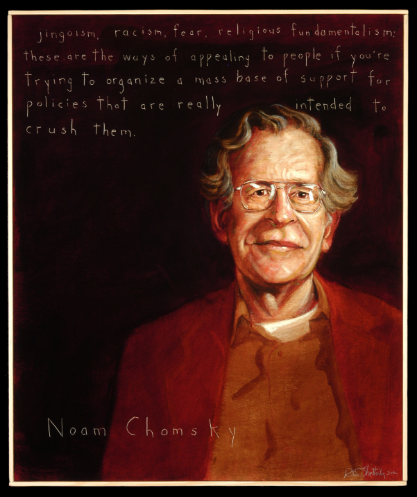 Picture of Noam Chomsky by Robert Shetterly, AWTT.org