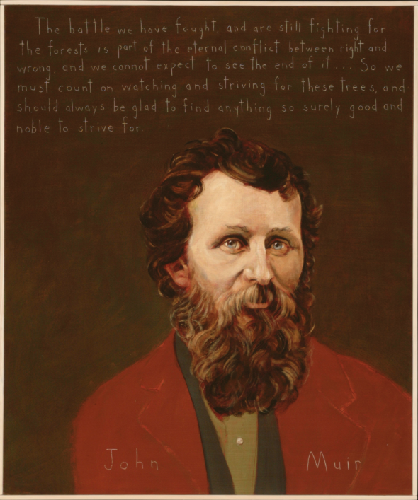 Picture of John Muir by Robert Shetterly, AWTT.org