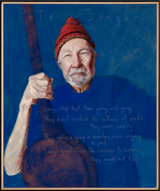 Picture of Pete Seeger by Robert Shetterly,  AWTT.org