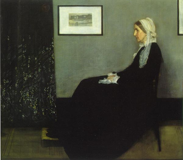 "Picture of Arrangement in Grey and Black: Portrait of the Painter's Mother      <br> (aka ""Whistler's Mother"")"