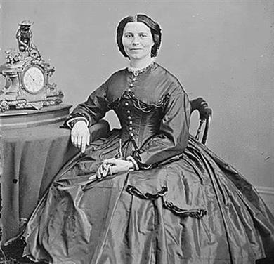 Picture of Clara Barton, A War Time Photograph by Matthew Brady