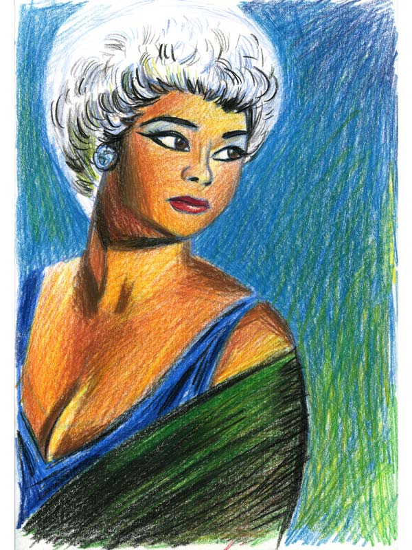 Picture of Etta James  (1938  -  2012) by Eddy Crosby