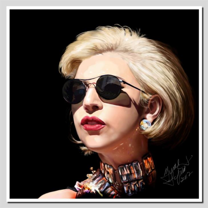 Picture of Lady  Gaga by Yvonne LaPointe