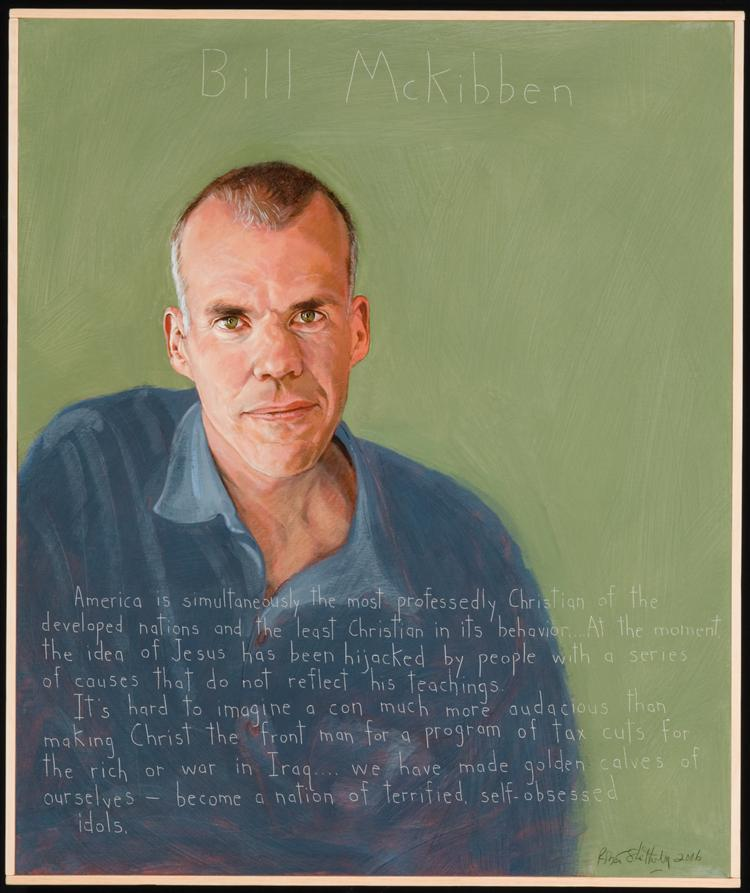 Picture of Bill McKibben by Robert Shetterly. AWTT.org