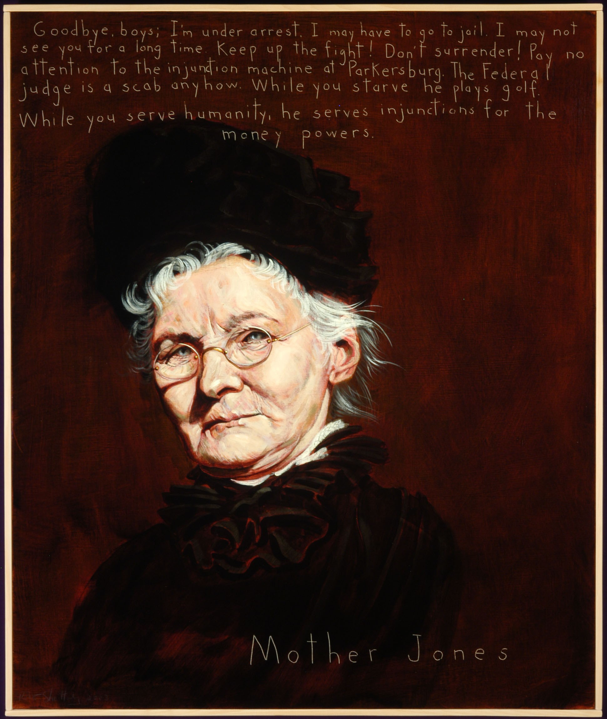 Picture of Mother Jones by Robert Shetterly, AWTT.org