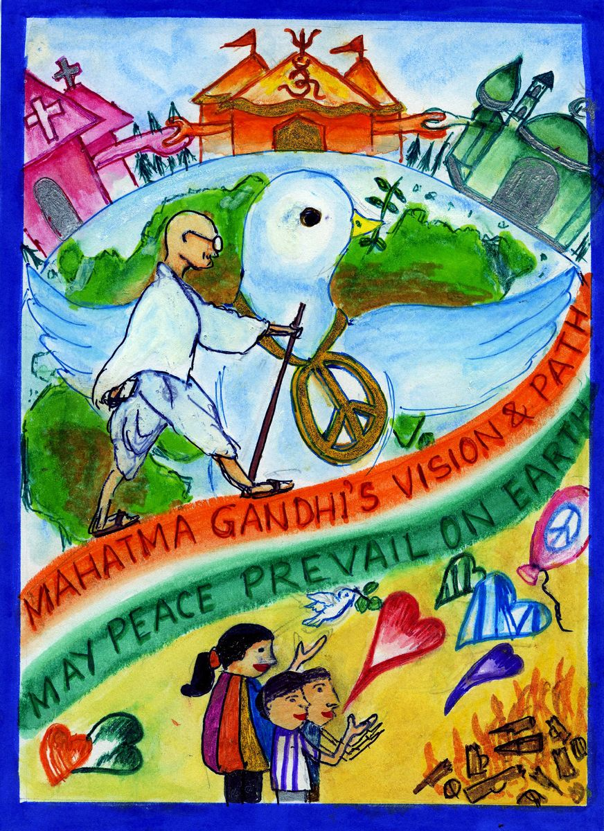 Picture of May Peace Prevail on Earth -Gandhi's Vision