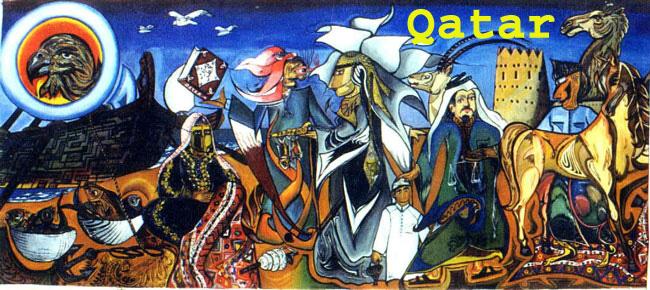 Qatar qatar my hero for Art miles mural project