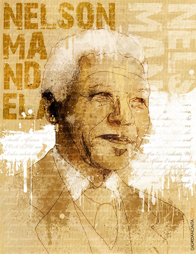 Picture of Nelson Mandela by Giordano Aita