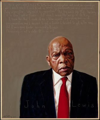 Learn about Congressman John Lewis and other heroes in Robert Shetterly's Americans Who Tell the Truth series at The MY HERO Project