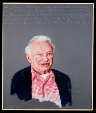 Picture of Louis Studs Terkel by Robert Shetterly, AWTT