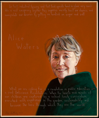 Picture of Alice Waters by Robert Shetterly, AWTT.org