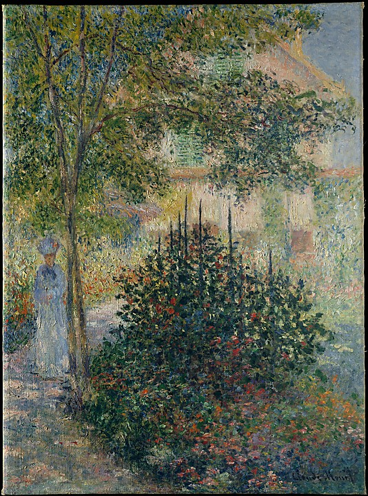 Picture of Camille Monet in the Garden at Argenteuil