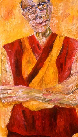 Picture of Dalai Lama - Tom Block, Human Rights Painting Project