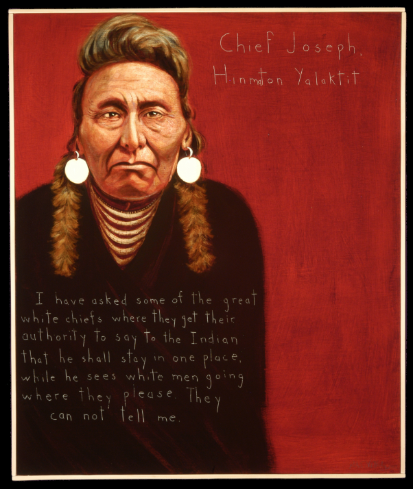 Picture of Chief Joseph Hinmton Yalektit by Robert Shetterly