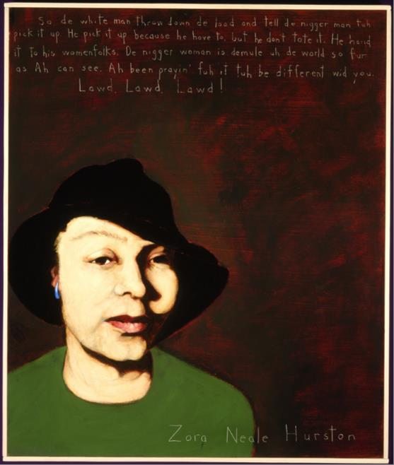 Picture of Zora Neale Hurston by Robert Shetterly, AWTT