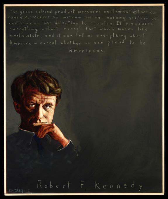 Picture of Robert F. Kennedy by Robert Shetterly,  AWTT.org