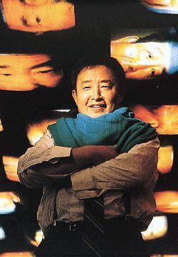 Nam June Paik, 1986 (Photo, Rainer Rosenow)