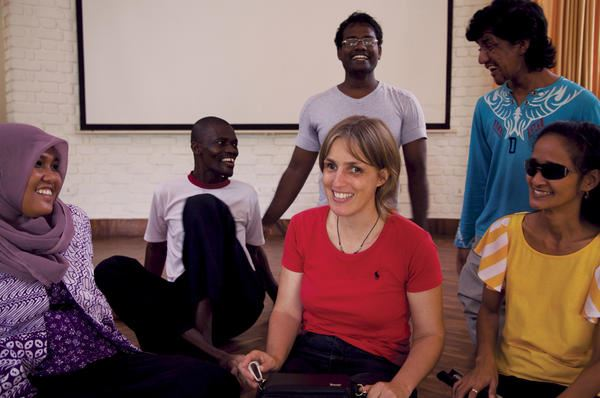 Picture of Sabriye Tenberken trains people who want to change the world