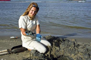 Leanne Sarco is a ranger at Grand Isle State Park, located on a barrier island off the coast of Loui