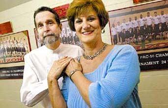 Judith Blair and kidney recipient Dr. Michael Burgoon