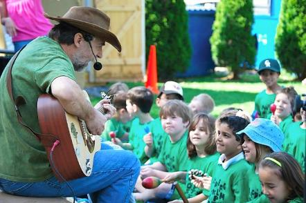 Picture of Reduce Reuse Recycle: Richard John McLaughlin is also a children's singer song-writer known locally as, Eco-Man.