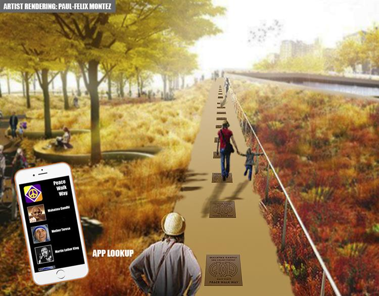 Picture of 100miles4peace Peace Walkway Proposed global art installations
