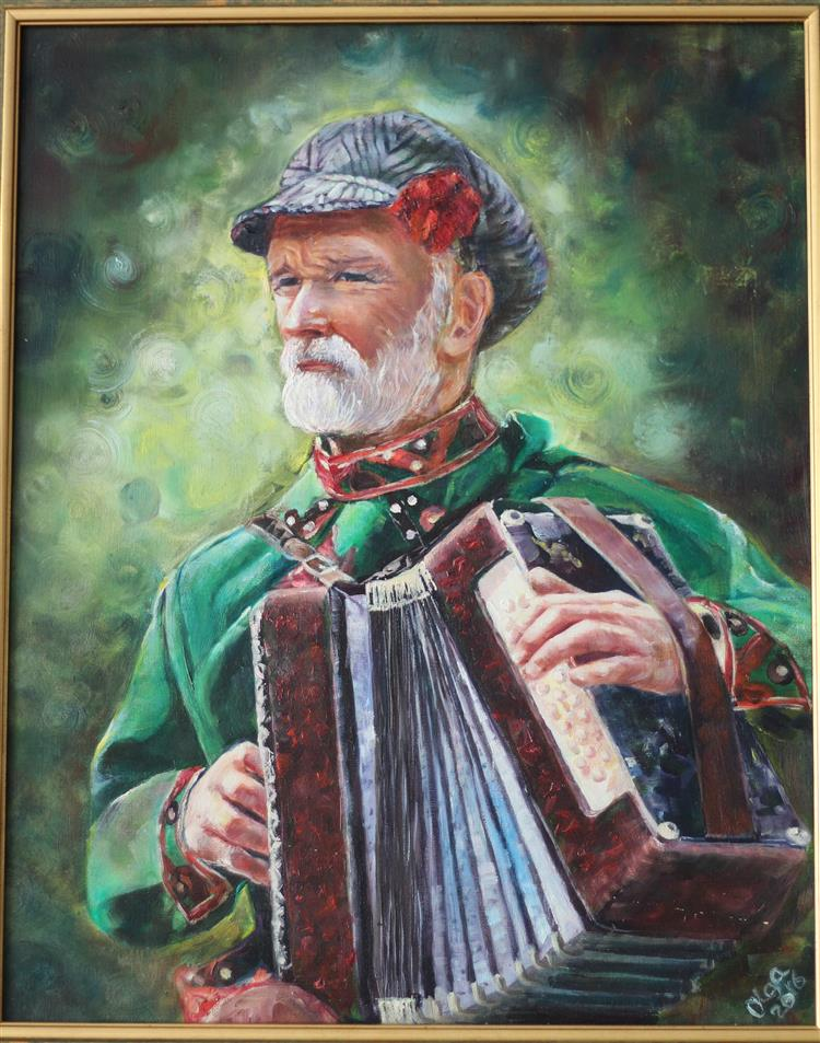Picture of A Man with an Accordion