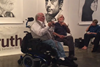 Picture of Ron Kovic and Robert Scheer at Gallery